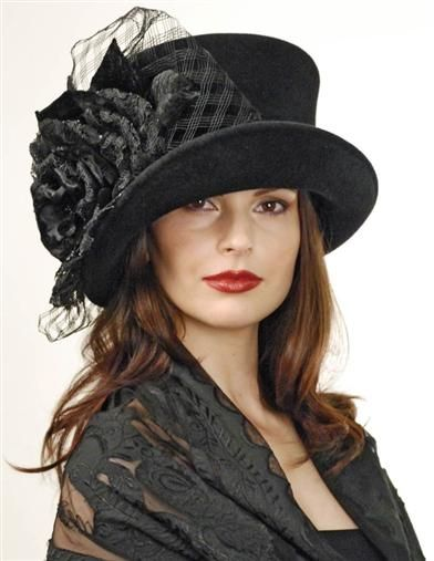 Steampunk Costume Essentials for Women Louise Green Madame Hatter Top Hat $449.95 AT vintagedancer.com