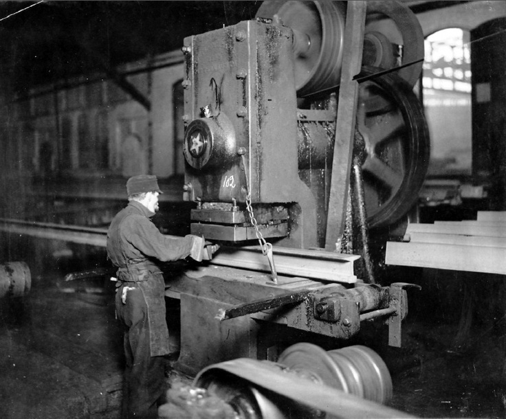Interior Of An Unidentified Steel Mill Circa 1900 Old