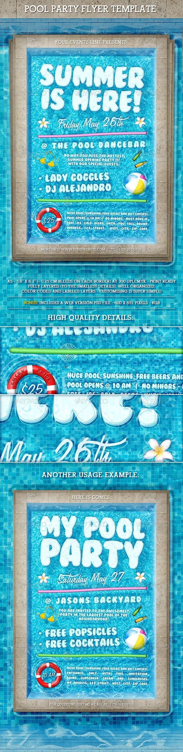 best images about print templates fonts flyer pool party flyer template professional outstandingoutstanding