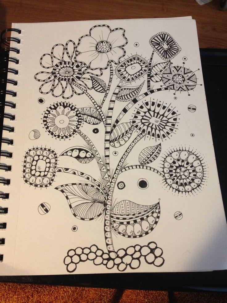 zentangle garden | Zentangle Mod flower garden! | Doodles