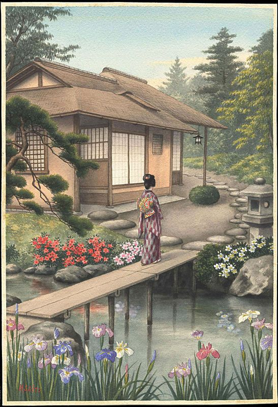 24 best images about watercolour arts on pinterest for Japanese watercolor paintings
