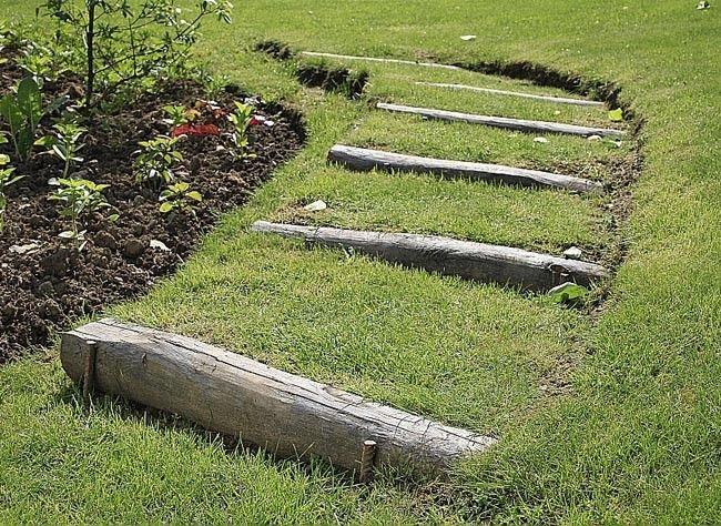 Escalier de jardin : jouer avec les niveaux