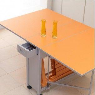 Mesa de Cocina Consola y 2 Sillas Plegables