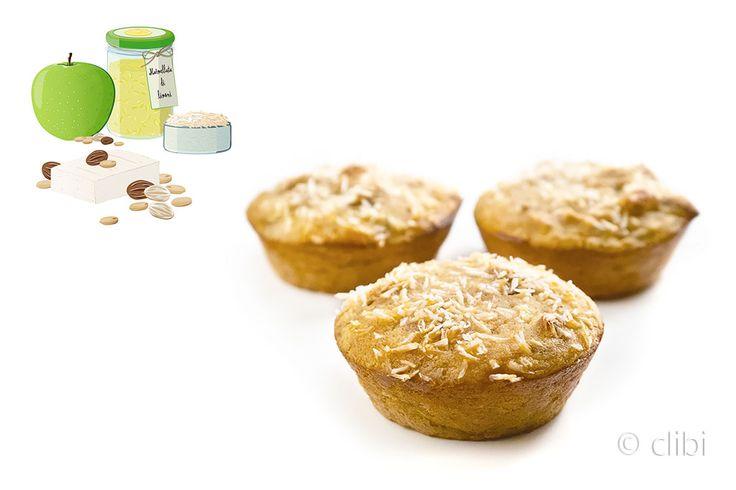 Tortina di mele verdi e arachidi senza glutine senza latticini