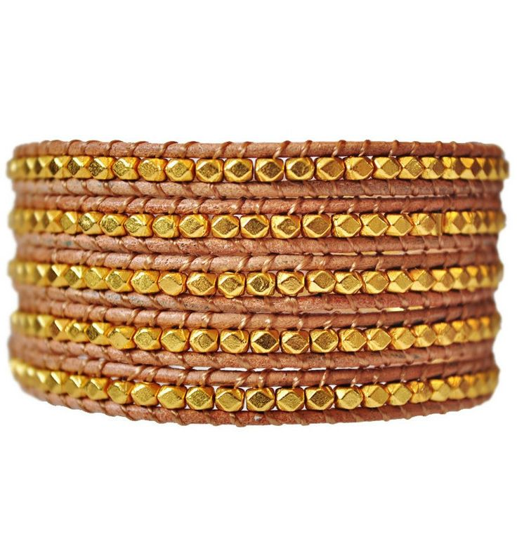 Golden Dreams is a 5 Wrap Leather Bracelet. With brown & gold hues this bracket is perfect for winter or summer wearing. Spice it up by wearing 2 side by side on your arm. $34 on sale. #brown #golden #gold #bracelet #summer #2014style