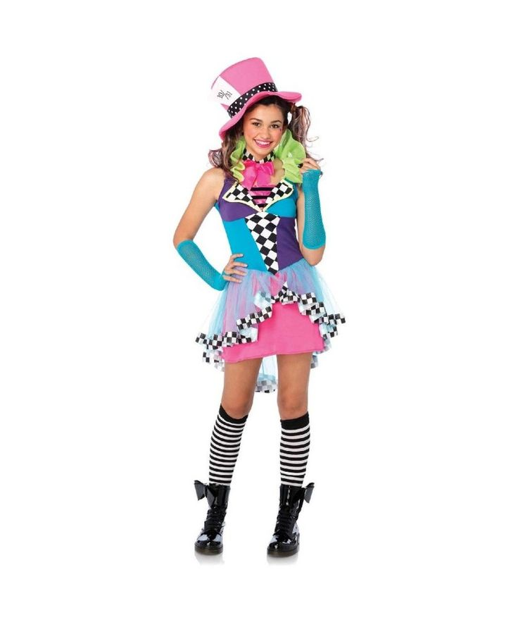 take the teacake for cutest costume with our mayhem hatter costume teen girls mayhem hatter costumes patchwork and high low peplum blends modern style - Fun Teenage Halloween Costumes