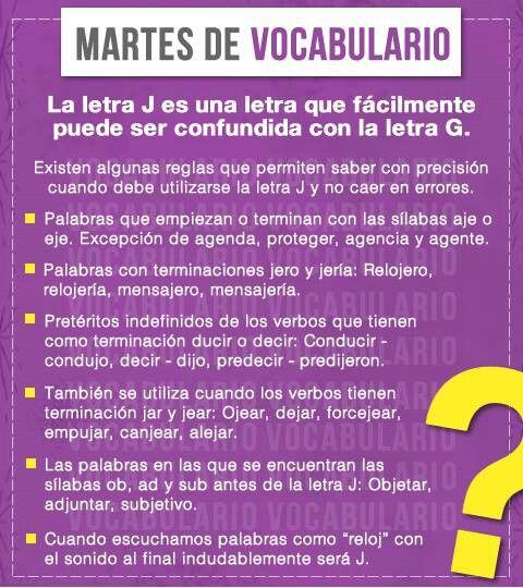 ¿Con G o con J? #ortografia #español