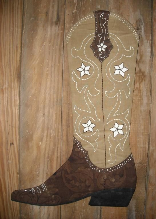 (9) Name: 'Sewing : 2012 Cowboy Boot Christmas Stocking
