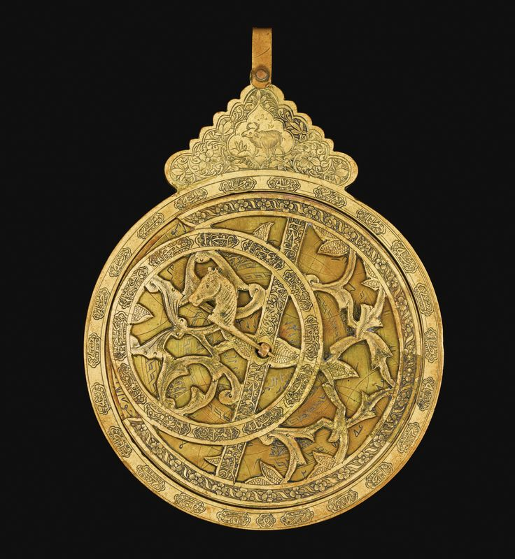 A DECORATIVE BRASS ASTROLABE, QAJAR, PERSIA, 19TH/20TH CENTURY