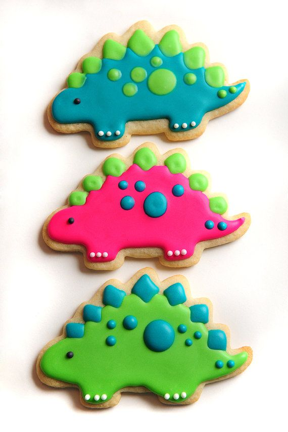 Stegosaurus Sugar Cookies by guiltyconfections on Etsy, $21.00