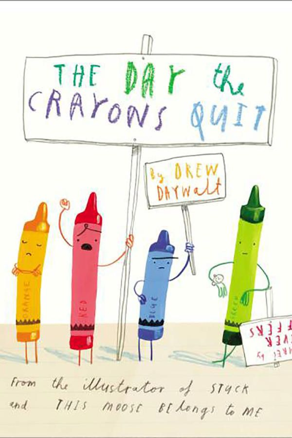The Day the Crayons Quit - The Best Children's Books of All Time - Southernliving. By Drew Daywalt, illustrations by Oliver Jeffers  All the crayons in Duncan's box go on strike, citing all kinds of hilarious grievances.     BUY IT: $10.79; amazon.com