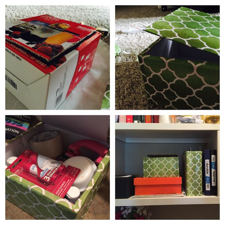 Hey people !! This is a craft storage box made of a throw away box !! Totally loving it !! Hope you guys like it too :)