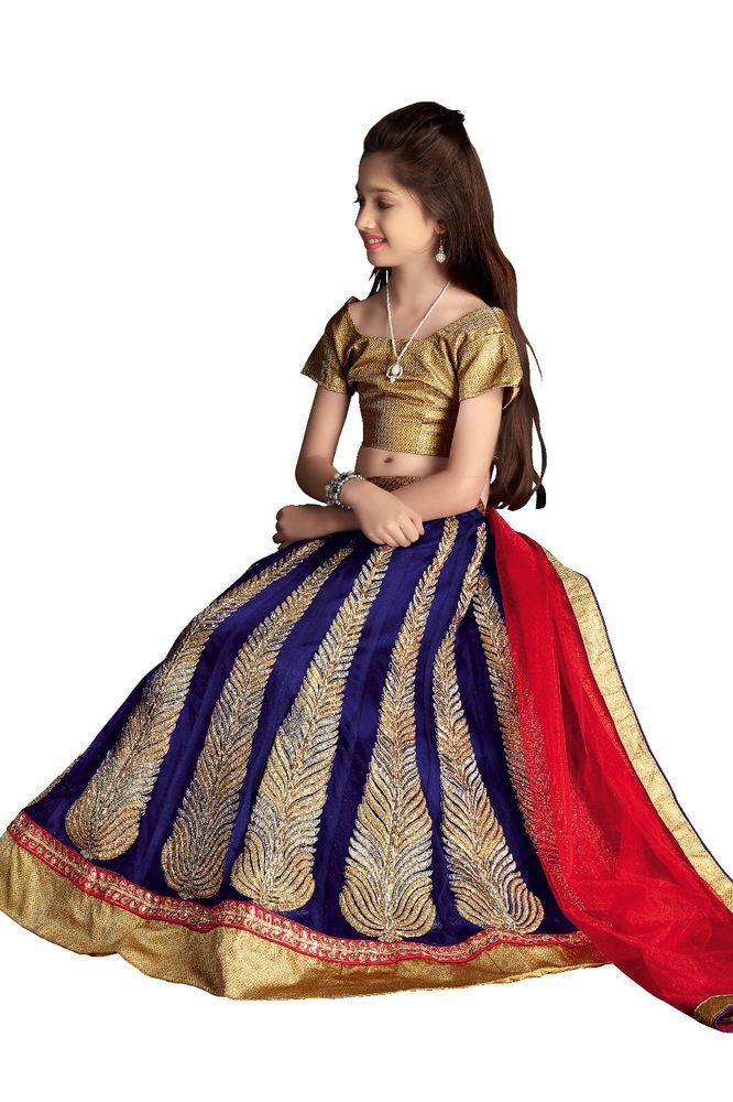 Designer New Lehenga Choli Girls Pakistani Ethnic Indian Bollywood Wedding Kids…