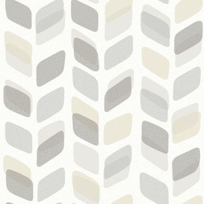 Gran Deco Scandi Print Neutral Wallpaper