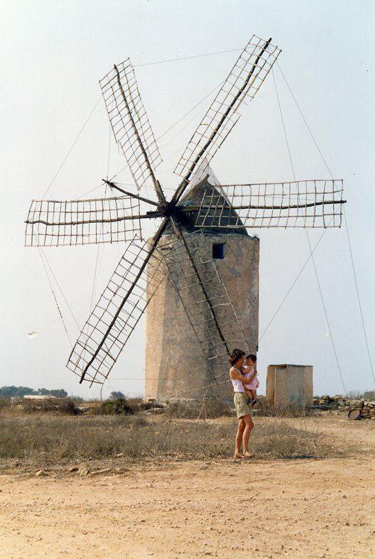Molino de viento, Formentera, Islas Baleares España