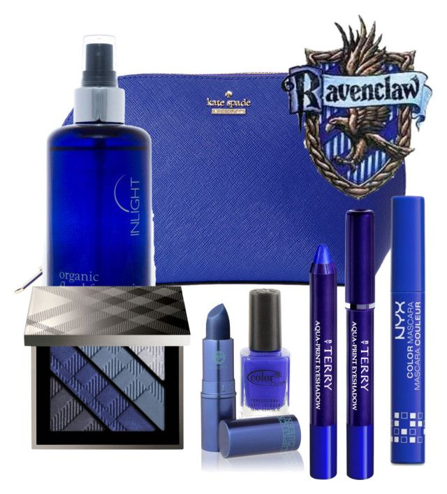 """""""Ravenclaw inspired beauty set"""" by hogwartsinspired on Polyvore featuring beauty, Kate Spade, By Terry, Inlight Skincare, Burberry, NYX, Color Club and Lipstick Queen"""