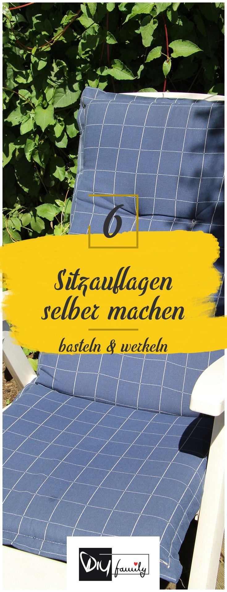 Ha! Diese Sitzauflagen sind einfach grandios! Schau mal rein ;) #garten #sitz #stuhl #diy #auflage #stoff #anleitung #blumen #sommer #sonne