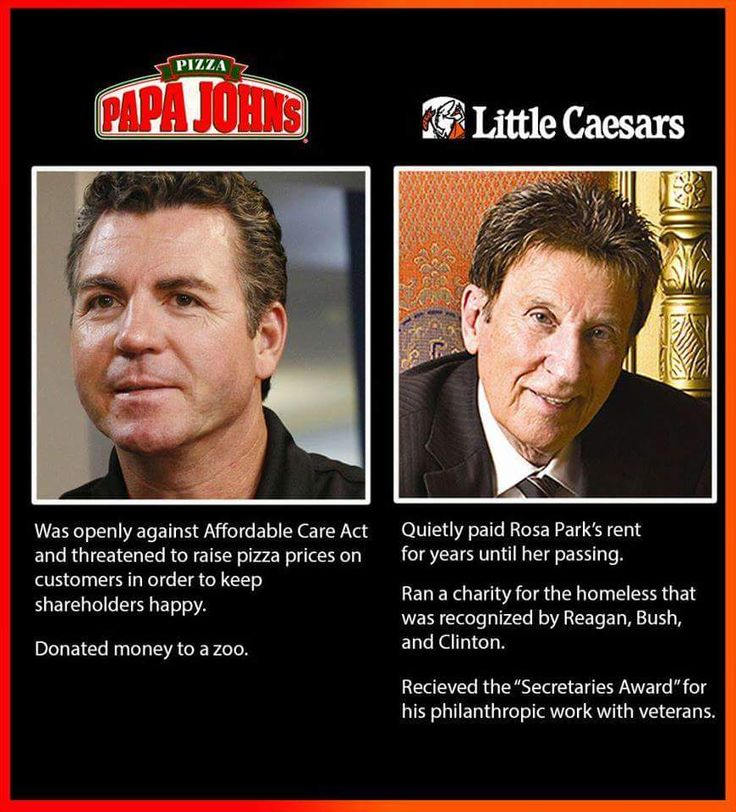 "I never cared for ""Poopie"" Papa John's Pizza.  Besides, ""Papa John"" always seemed to be a little smug.  Like he and his pal Peyton Manning like to suck up to others, and this might be including, but not limited to John Elway, and Donald Trump."