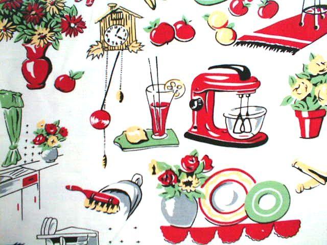 Michael Miller Fabrics The 50s Kitchen