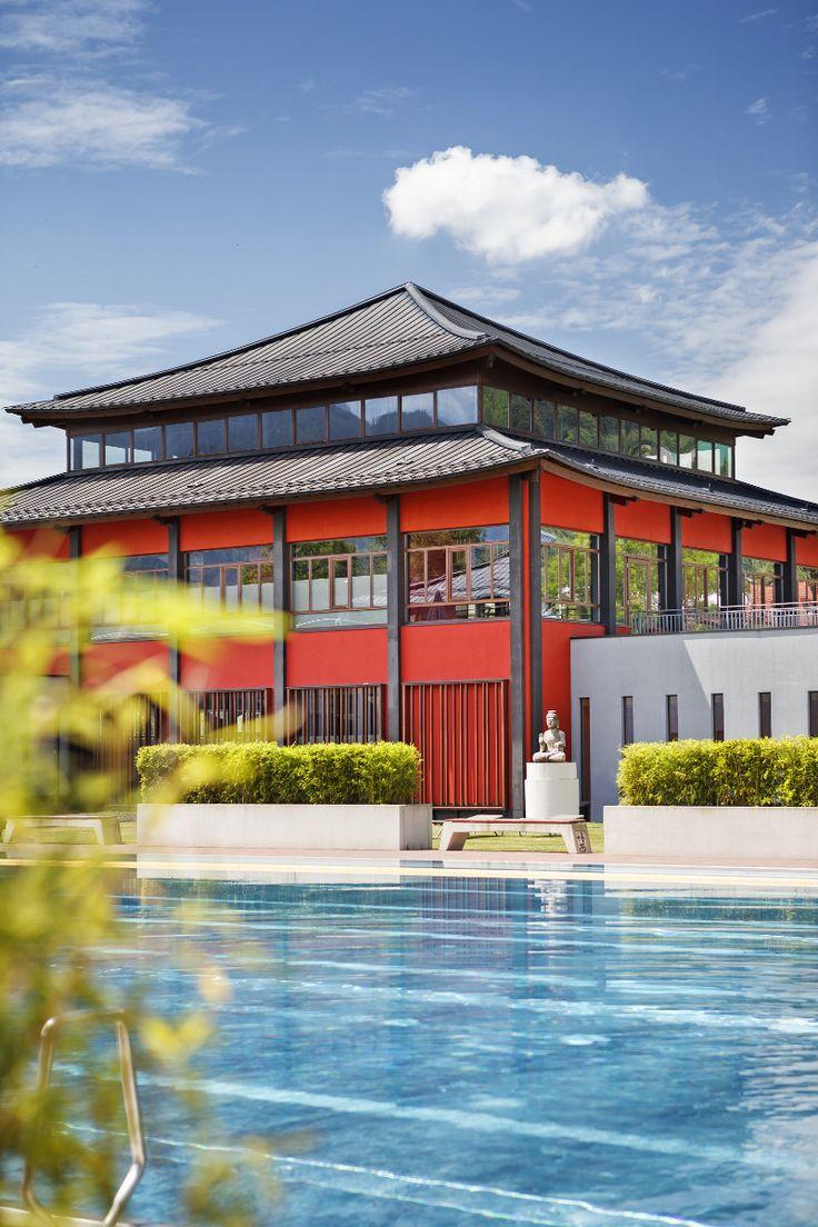 Asia Spa Leoben: Chinesische Architektur und Einrichtung nach Feng-Shui