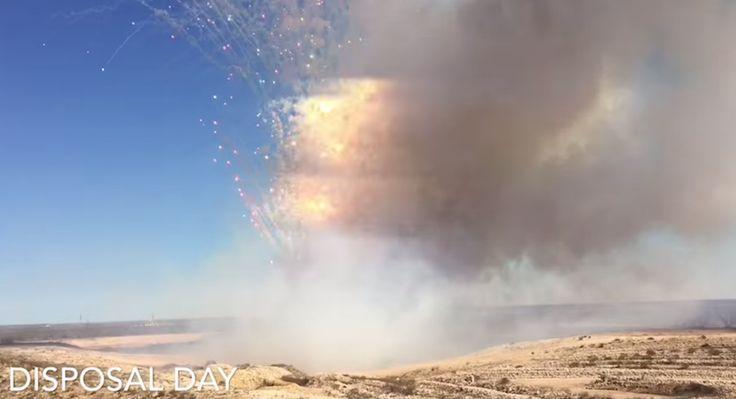 Wie es aussieht wenn 9 Tonnen Feuerwerkskörper vernichtet werden | Disposal Day - 3 Videos Atomlabor Wuppertal Blog