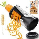 Kycen Spiral Slicer Vegetable - Hand Veggie Cutter - Carrot Spaghetti Maker, Zucchini Spaghetti Maker With The Best Food Slicer - Low Carb Pasta With Turning Slicer - Zucchini Pasta Maker - Gluten Free Raw Spaghetti Noodles - Perfect Spiralizer For Vege