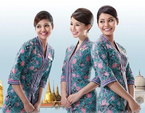 Model Pakaian Batik untuk Pramugari