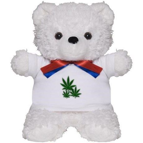 So cute would love to have one of these cute little marijuana teddy bears.  If your girl is a toker she will love this for Christmas.  #ganja #pot #cannibis http://www.cafepress.com/+tripe_weed_leaves_teddy_bear,1497448726?aid=11861778