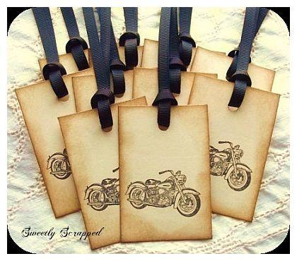 Biker Wedding Ideas | Motorcycle Favor Tags by Sweetly Scrapped Art} http://www.uksportsoutdoors.com/product/blank-sabbath-2016-bmx-bike-20in-wheel-20-6in-top-tube-black/