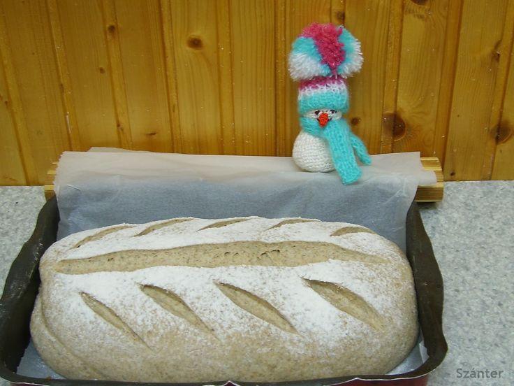 Szánter blogja.: Rozs és tönkölybúzalisztes kenyér. Egyszerű és fin...