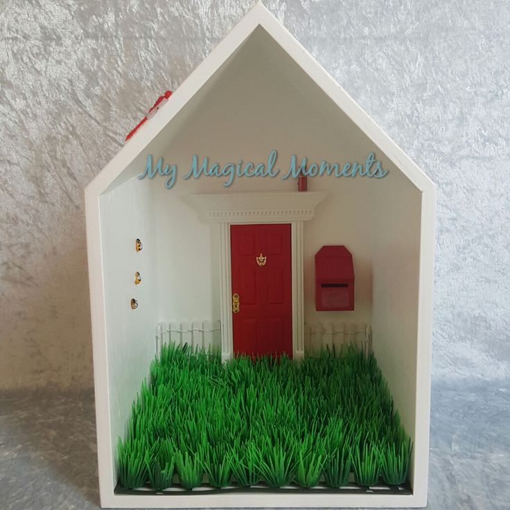 This Red themed Elf House will bring magic into your home Your pack will come with Handmade Wooden Display HouseRed Elf DoorRed Mail BoxWhite Picket FenceLittle Garden - Plain GrassSmall Red Elf Dust3 Humble Bumble BeesRed Glow in the Dark DragonflyThe Wooden Display House comes assembled ready