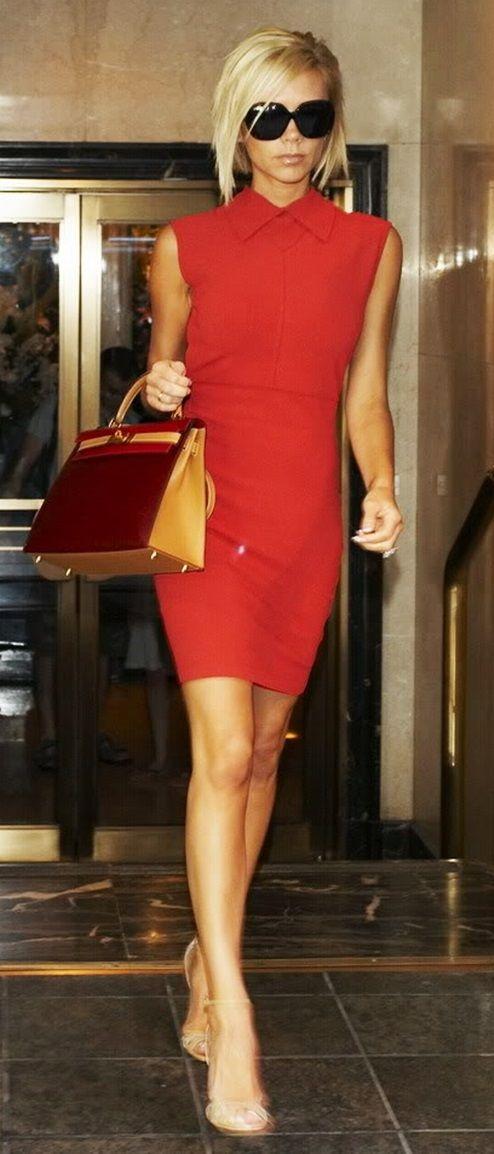 Victoria Beckham red dress...x