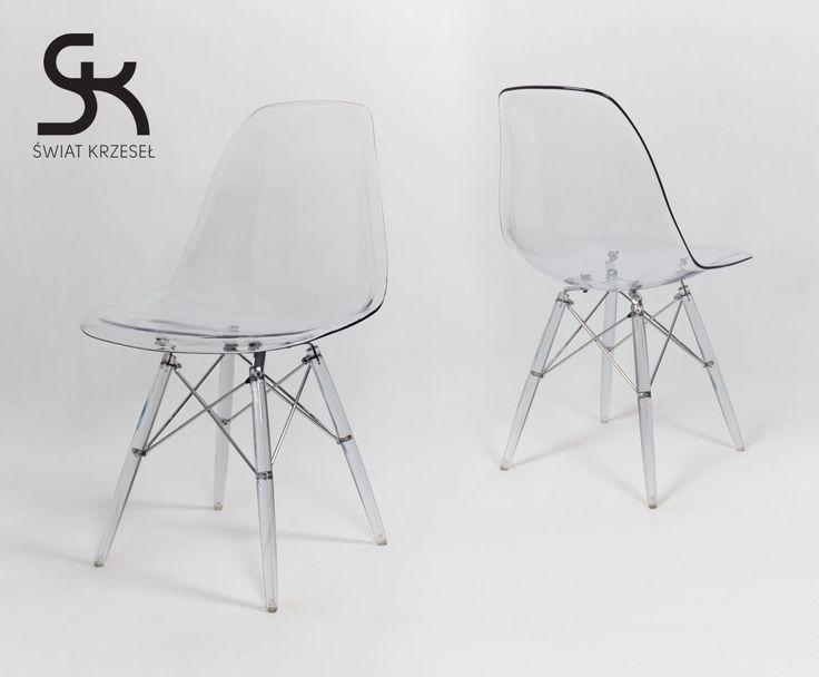 KR012 TR TRANSPARENTNE krzesło nogi LODOWE