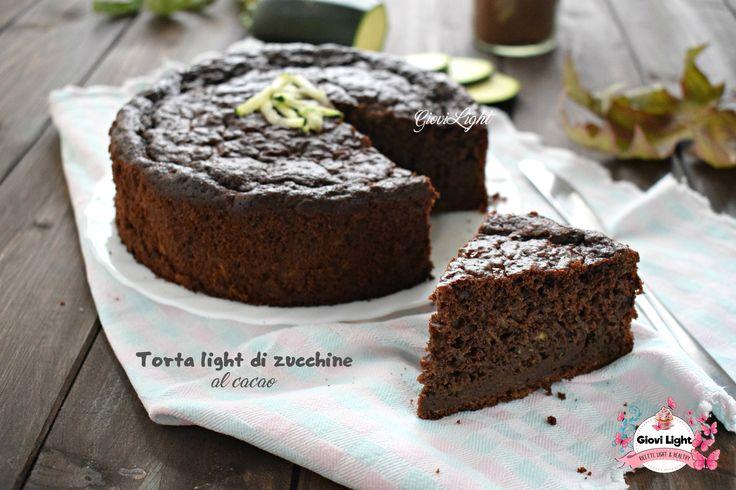 Torta light di zucchine al cacao