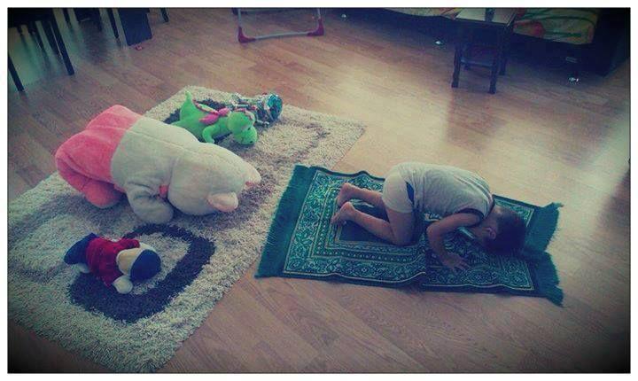 Cute kid muslim