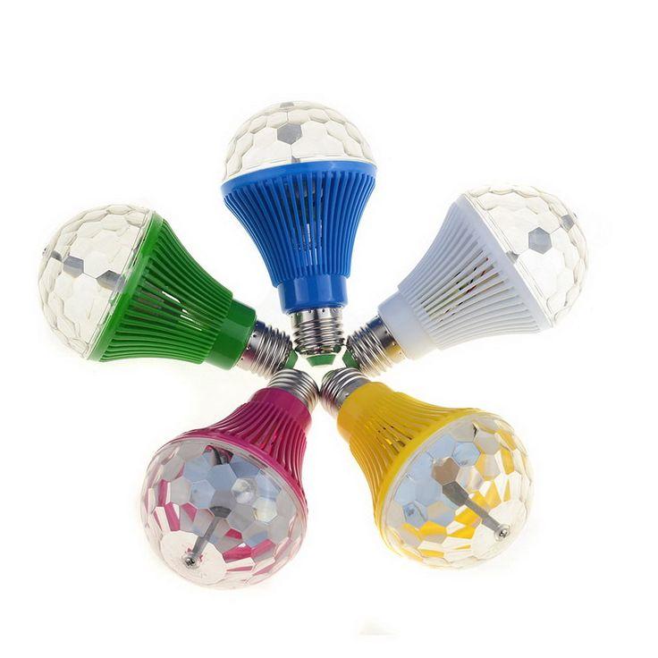 16 Colors E27 RGB LED Auto Rotating Lamp  3W AC 110V 220V Light Bulbs LED Bulbs Stage Light DJ Disco Pub SR1G  VEJ37 #Affiliate
