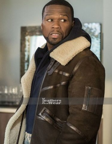 Power 50 Cent Fur Brown Leather Jacket