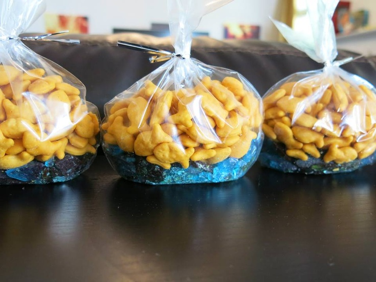 DIY Nautical Baby Shower Homemade Rock Candy Goldfish Favors By Sarah Chintomby Ashlock