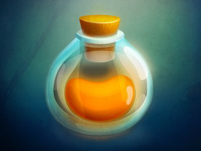 Dribbble - Glass vial by Vasili Tkach