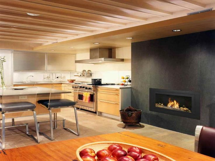 33 best images about basement fireplace on pinterest for Contemporary ventless gas fireplace