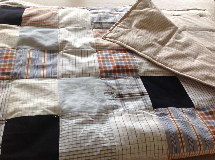 Home made plaid van oude hemden