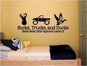 Bucks Trucks and Ducks...that's what little by designstudiosigns, $38.00. Morgan Craig