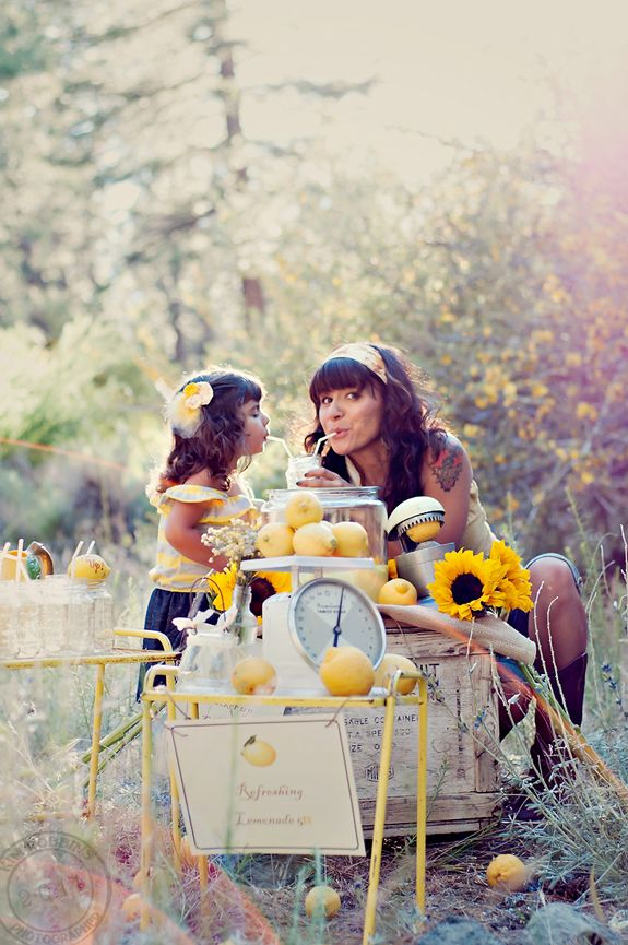 cute idea - lemonade party with mother & daughter.