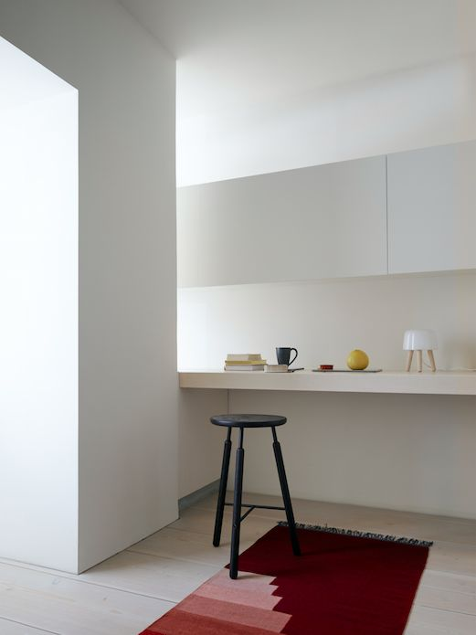 Another Rug by All The Way To Paris / NA Barstool by Norm.architects / Milk Lamp by Norm.architects.