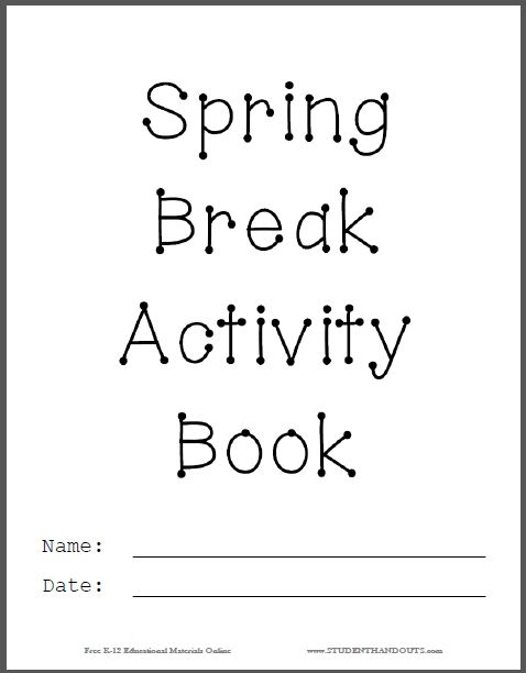 Printable Book Cover Creator : Best spring break images on pinterest