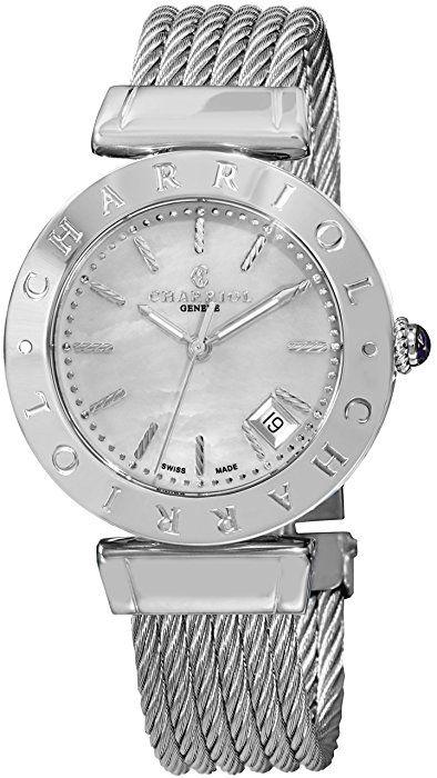 Charriol Alexandre Women's 34mm Silver Steel Bracelet & Case Watch AMS.51.002