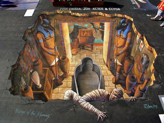 I love art that is fun and that you can have fun with: Interactive 3D Chalk Art Street Paintings by Tracy Lee Stum  http://laughingsquid.com/interactive-3d-chalk-art-street-paintings-by-tracy-lee-stum/