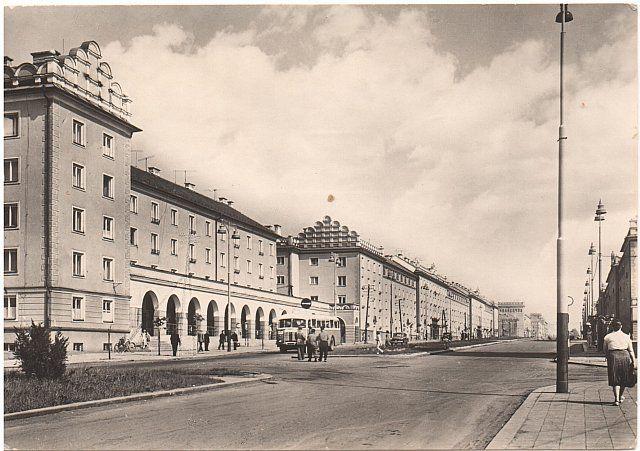 Main street in Havirov, Czech Republic (1959)