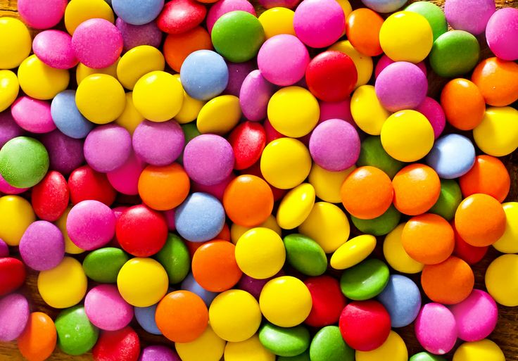 #caramelle colorate