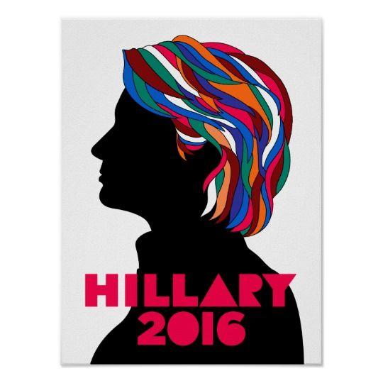 Hillary Clinton 2016 Campaign Retro Poster (Small)